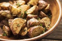 Geroosterde aardappels Stock Afbeelding