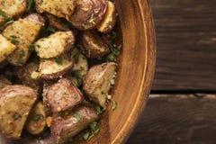 Geroosterde aardappels royalty-vrije stock foto's