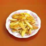 Geroosterde aardappels Royalty-vrije Stock Afbeeldingen