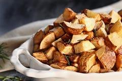 Geroosterde aardappels Royalty-vrije Stock Foto