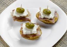 Geroosterde Aardappels met Bacon en Kaas Royalty-vrije Stock Fotografie