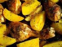 Geroosterde aardappels van dichte omhooggaand Stock Afbeelding