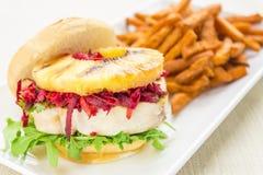 De Hawaiiaanse Hamburger van de Tonijn Stock Foto's