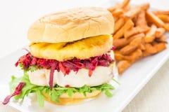 De Hawaiiaanse Hamburger van de Tonijn Royalty-vrije Stock Afbeelding