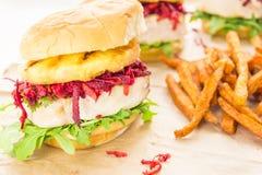 De Hawaiiaanse Hamburger van de Tonijn Royalty-vrije Stock Fotografie