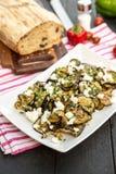 Geroosterde auberginesalade Royalty-vrije Stock Fotografie