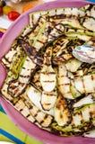 Geroosterde auberginessalade Royalty-vrije Stock Afbeeldingen