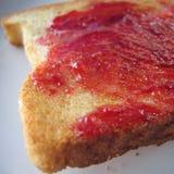 Geroosterde brood en jam royalty-vrije stock fotografie