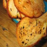 Geroosterde broodplakken stock afbeeldingen