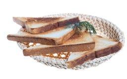 Geroosterde broodplakken voor ontbijt Royalty-vrije Stock Afbeeldingen