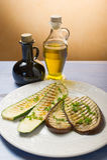 Geroosterde courgettes en aubergine Stock Afbeelding