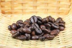 Geroosterde donkere koffieboon Stock Foto