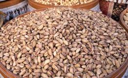 Geroosterde en gezouten pistaches Royalty-vrije Stock Afbeeldingen