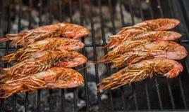 Geroosterde garnalen Heerlijk zeevruchtenvoorgerecht stock foto's