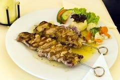 Geroosterde Griekse vleespen Royalty-vrije Stock Afbeelding