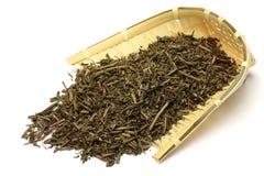 Geroosterde groene thee Stock Afbeelding