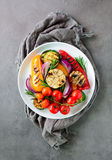 Geroosterde groentensalade, hoogste mening Royalty-vrije Stock Fotografie