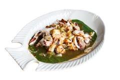 Geroosterde Inktvissen met de Saus van de Tamarinde Royalty-vrije Stock Afbeeldingen