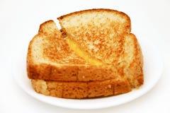 Geroosterde kaas stock afbeeldingen