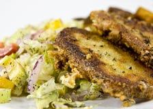 Geroosterde kaas met salade Royalty-vrije Stock Fotografie