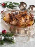 Geroosterde kip en groenten Royalty-vrije Stock Afbeelding
