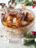 Geroosterde kip en groenten Stock Foto
