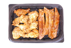 Geroosterde kip en ribben stock fotografie