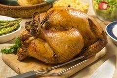 Geroosterde kippenmaaltijd Royalty-vrije Stock Fotografie