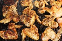 Geroosterde kippenvleugels Royalty-vrije Stock Afbeeldingen