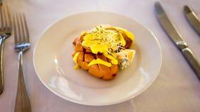 Geroosterde Knackwurst-Voorgerechtmaaltijd Stock Fotografie