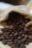 Geroosterde koffieboon Stock Foto's