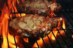 Geroosterde Lapjes vlees Stock Foto's