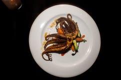 Geroosterde Octopus van een exclusief restaurant royalty-vrije stock foto's