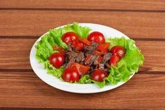 Geroosterde rundvlees en paddestoelen Stock Foto