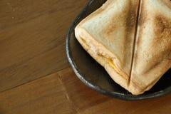 Geroosterde sandwich in ochtend Stock Afbeelding
