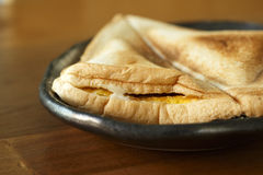 Geroosterde sandwich in ochtend Stock Afbeeldingen