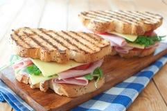 Geroosterde sandwiches Royalty-vrije Stock Afbeeldingen