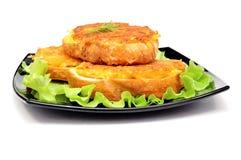 Geroosterde sandwiches met aardappel Stock Afbeeldingen