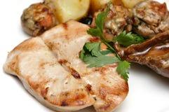 Geroosterde schnitzel van Turkije Stock Foto's