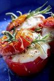 Geroosterde tomatenkaas Stock Afbeelding