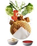 Geroosterde Turkse Doner Kebab Stock Foto's