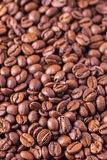 Geroosterde van koffiebonen textuur als achtergrond Royalty-vrije Stock Foto's