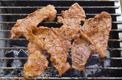 Geroosterde varkensvlees Thaise stijl. Stock Afbeeldingen