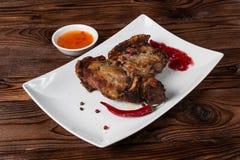 Geroosterde varkensvleesbarbecue Stock Foto