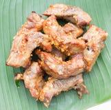 Geroosterde varkensvleesribben. Stock Fotografie