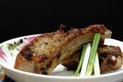 Geroosterde varkensvleesribben Stock Afbeelding