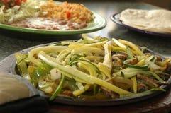 Geroosterde veggie fajita royalty-vrije stock foto's