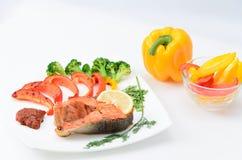 Geroosterde Vissen Stock Foto
