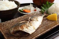 Geroosterde vissen, Japans voedsel Stock Foto