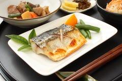 Geroosterde vissen van de makreel Stock Foto